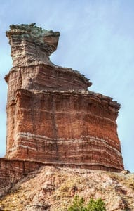 """<span style=""""font-size: 8pt;""""><a href=""""https://commons.wikimedia.org/wiki/File:Lighthouse_Peak_at_Palo_Duro_Canyon.jpg"""">""""Lighthouse Peak at Palo Duro Canyon""""</a> by Akarsh Simha </span><br /> <span style=""""font-size: 8pt;"""">Licensed under <a href=""""https://creativecommons.org/licenses/by-sa/4.0/deed.en"""">CC BY-SA4.0</a> (unmodified)</span>"""