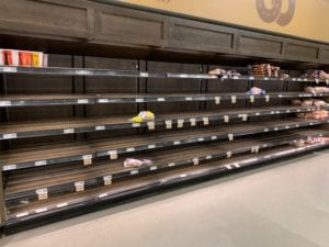 empty shelves demonstrate a lack of submission