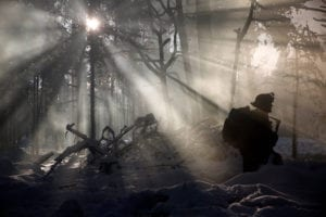 Walkin' in a Winter Wonderland<br /> A Marine participates in a field training exercise during Exercise Iron Sword 16 in Rukla Training Area, Lithuania, Nov. 29, 2016. Iron Sword is an annual, multinational defense exercise involving 11 NATO allies training to increase combined infantry capabilities and forge relationships.<br /> (U.S. Marine Corps photo by Sgt. Kirstin Merrimarahajara)