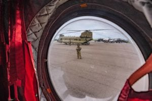 OPA-LOCKA, FLORIDA , FLORIDA (4 September 2019) -- Florida National Guard Soldiers and Airmen, from the CBRN Enhanced Response Force Package (CERFP), load equipment and prepare for potential missions responding to Hurricane Dorian. (Photo by Ching Oettel)